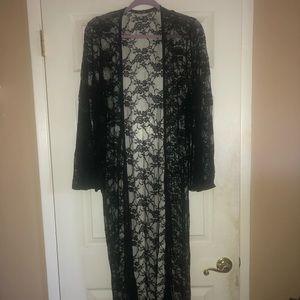 Boohoo Black Lace Kimono